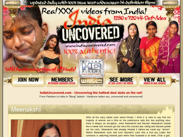 Join Indiauncovered.com For Free
