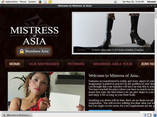 Mistressofasia.com Trial