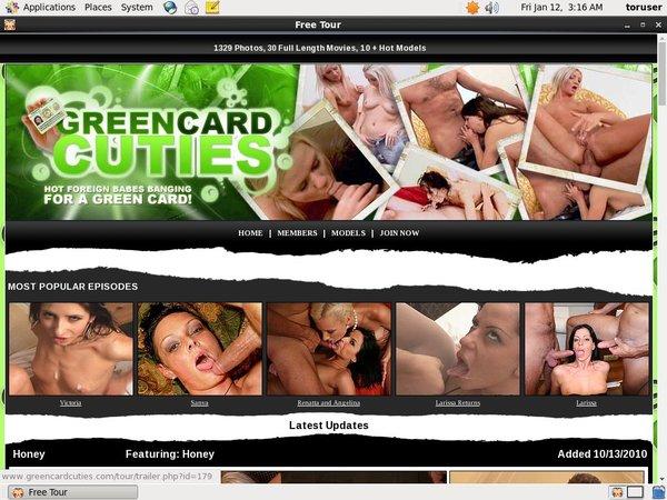 Greencardcuties.com Password Bugmenot